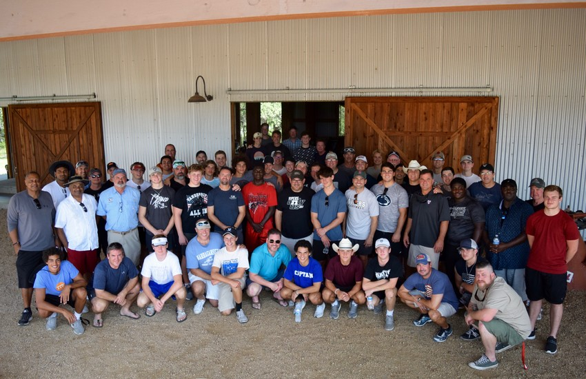 The Vandegrift football team hosted a senior father/son campout Saturday afternoon at Brigham Double Horn Ranch.
