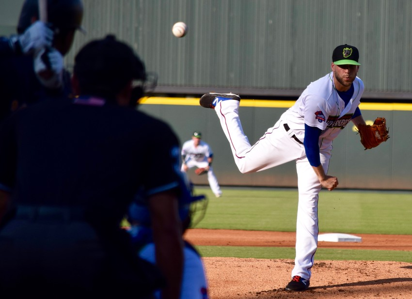 Express starter Chris Rowley struck out seven batters and gave up just one run as Round Rock beat the New Orleans Baby Cakes 3-2 on Sunday night.