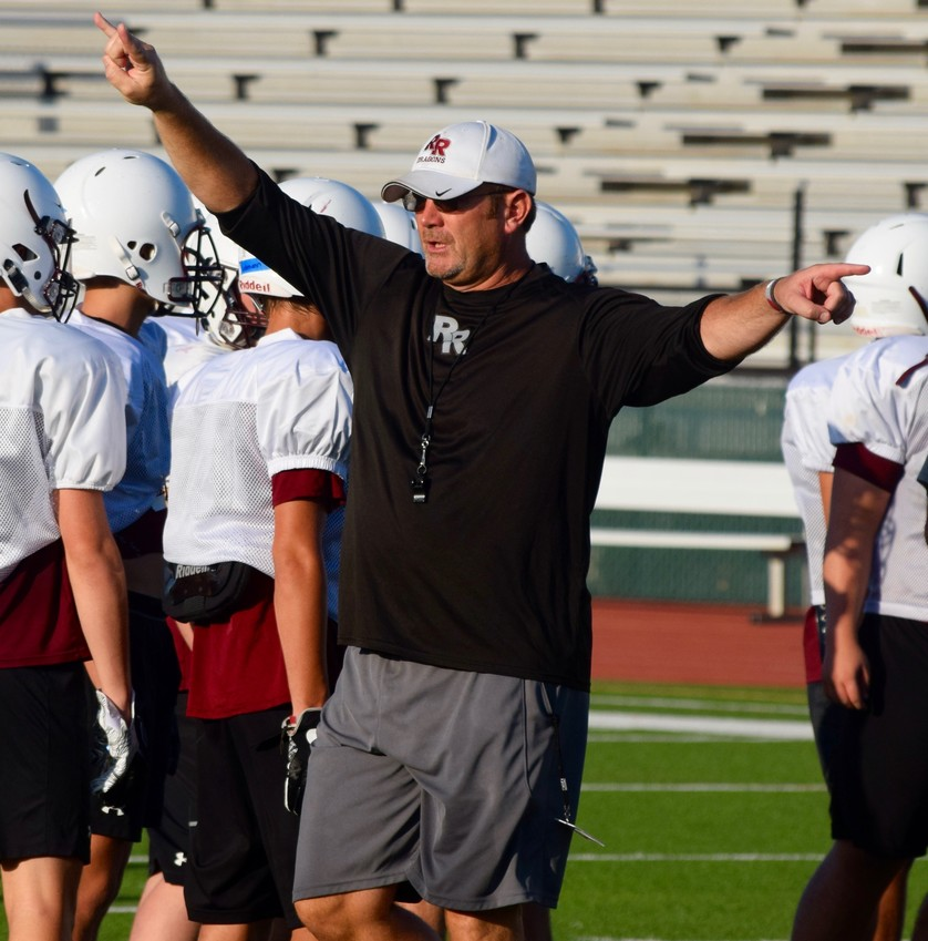 Round Rock head coach Jeff Cheatham is looking for the Round Rock defense to be stronger this season after giving up 45 points a game last year.