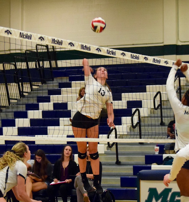 Brynne Wright and Vandegrift beat McNeil 3-0 (28-26, 25-17, 25-21) on Tuesday night.
