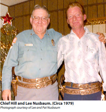 Chief C.D. Hill and officer Lee Nusbaum, circa 1979.