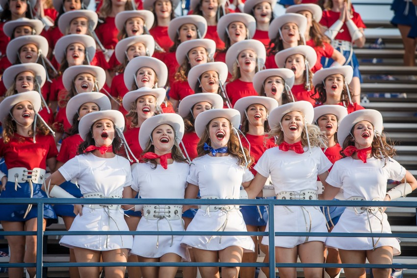 The Kilgore Rangerettes are perhaps the best-known collegiate drill team in the world, and have traveled around the world performing.