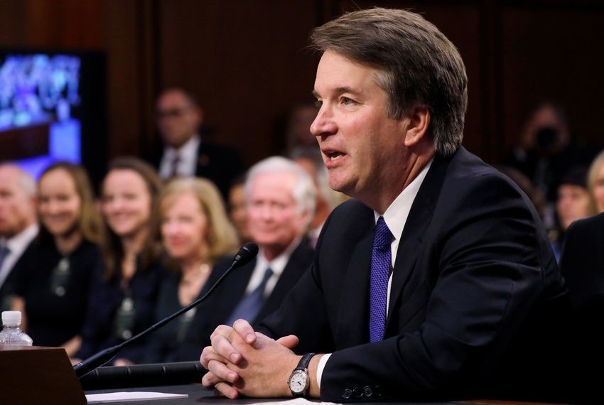 U.S. Supreme Court nominee Judge Brett Kavanaugh addresses the committee at the start of his Senate Judiciary Committee confirmation hearing on Capitol Hill in Washington, D.C. on September 4, 2018.
