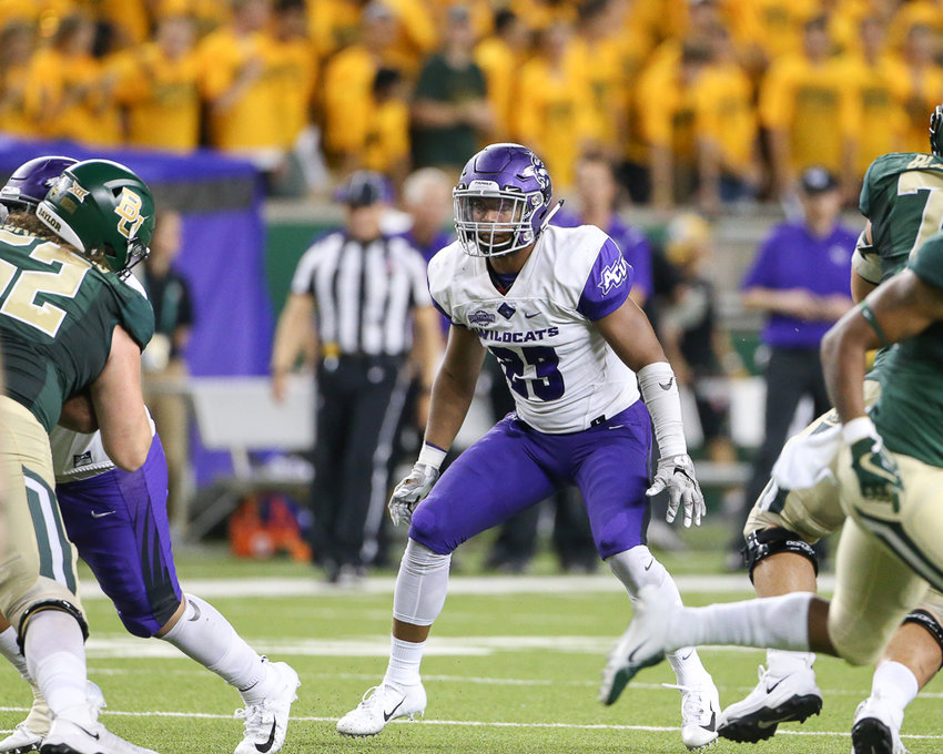 Abilene Christian Wildcats linebacker Jeremiah Chambers (23) during the first half of an NCAA football game between Baylor University and Abilene Christian University on Saturday, Sept 1, 2018 in Waco, Texas.