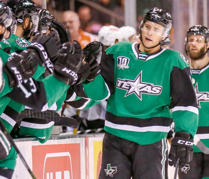 Joel L'Esperance scored a late goal in the preseason win against the San Antonio Rampage last week. After losing a lot of their veteran players to other teams and the NHL, the Stars will rely on youth to carry the load this season.