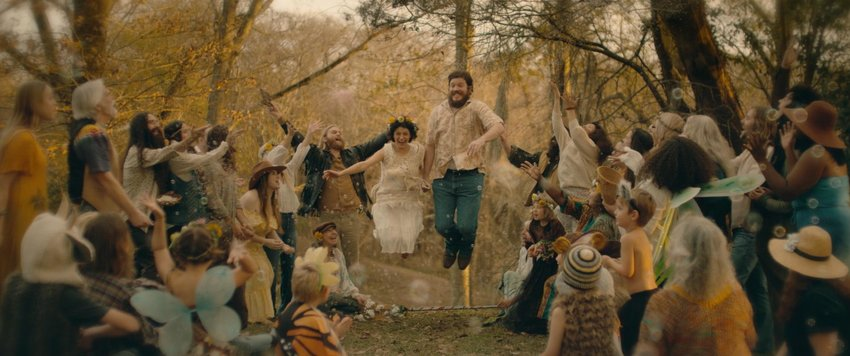 """Ben Dickey as Blaze Foley, and Charlie Sexton as Townes Van Zant in Ethan Hawke's """"Blaze."""""""