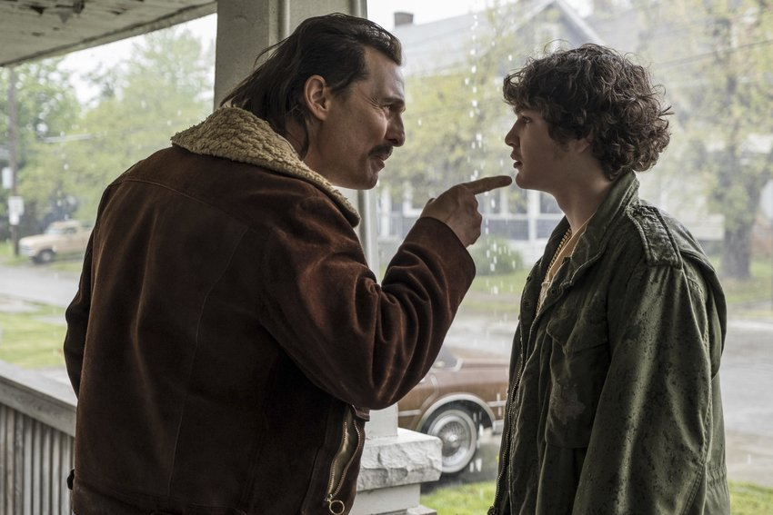 "This image shows and Matthew McConaughey, left, and Richie Merritt in a scene from ""White Boy Rick."""