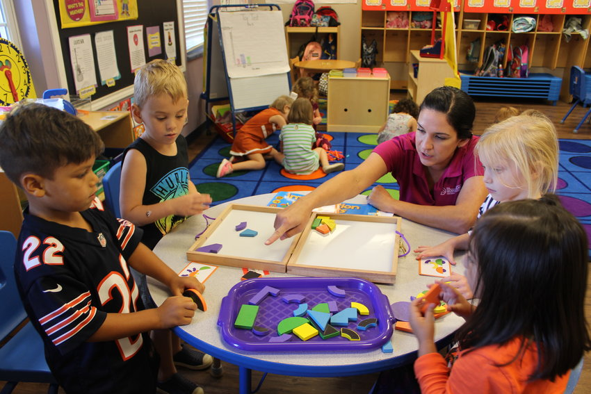 Preschoolers enrolled at the Goddard School in Leander test out various kids of toys as part of the 2018 Goddard School Toy Testing week, Sept. 24-28.