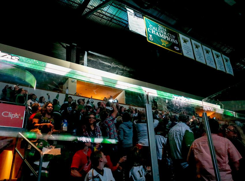 The Texas Stars raised their Western Conference Championship banner before taking on the Grand Rapids Griffins on Friday night.