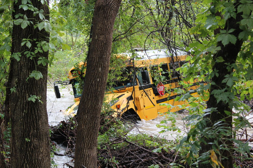 A Leander ISD bus driver and a Stiles Middle School student were rescued from a flooded school bus after the driver went around a barricade on Tuesday morning, Oct. 16. The driver was later arrested and the student was treated by first responders and released to parents.