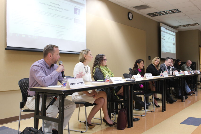Nine of the ten candidates running for seats on the Leander ISD Board of Trustees participated in a candidate forum at Austin Community College's Cypress Creek campus on Monday night.