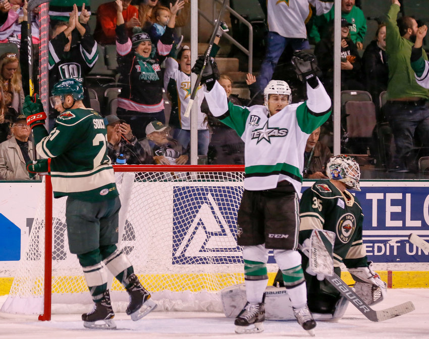 Micheal Mersch scored a goal and the Texas Stars swept the Iowa Wild in a two-game set last weekend.