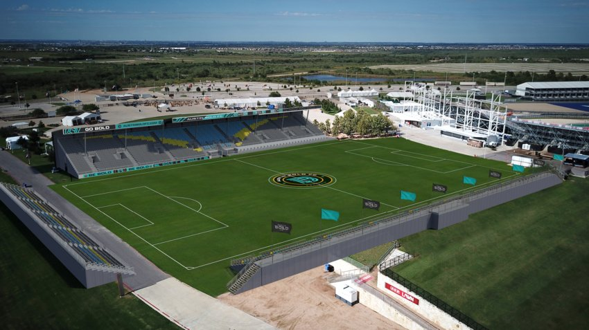Austin Bold FC will play in a 5,000-season soccer-specific stadium being built at the Circut of The Americas beginning spring 2019.