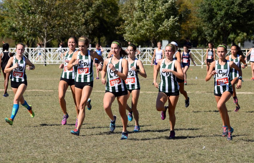 The Cedar Park girls' cross country team finished third at the State Cross Country meet Saturday at Old Settlers Park in Round Rock.