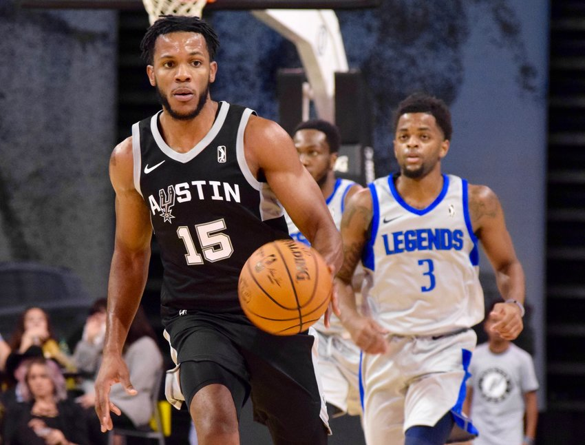 Jaron Blossomgame had 31 points and nine rebounds as the Austin Spurs lost to the Texas Legends 126-120 on Saturday night.