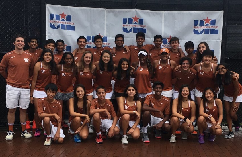 The Westwood tennis team won its first-ever team tennis title last week, beating previously undefeated and defending state champion Houston Memorial 10-7 in the final at Texas A&M University.