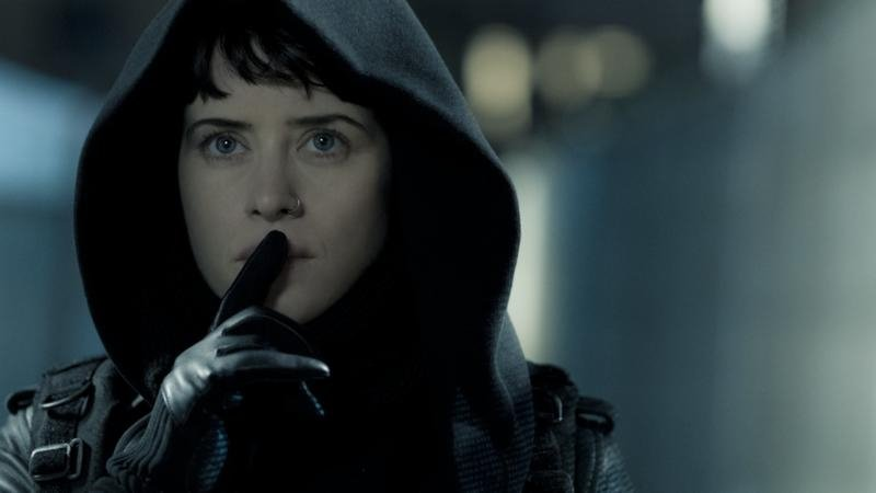 "Lisbeth Salander (Claire Foy) is the third actress to appear as Stieg Larsson's hacker heroine Lisbeth Salander, appearing in ""The Girl in the Spider Web."""