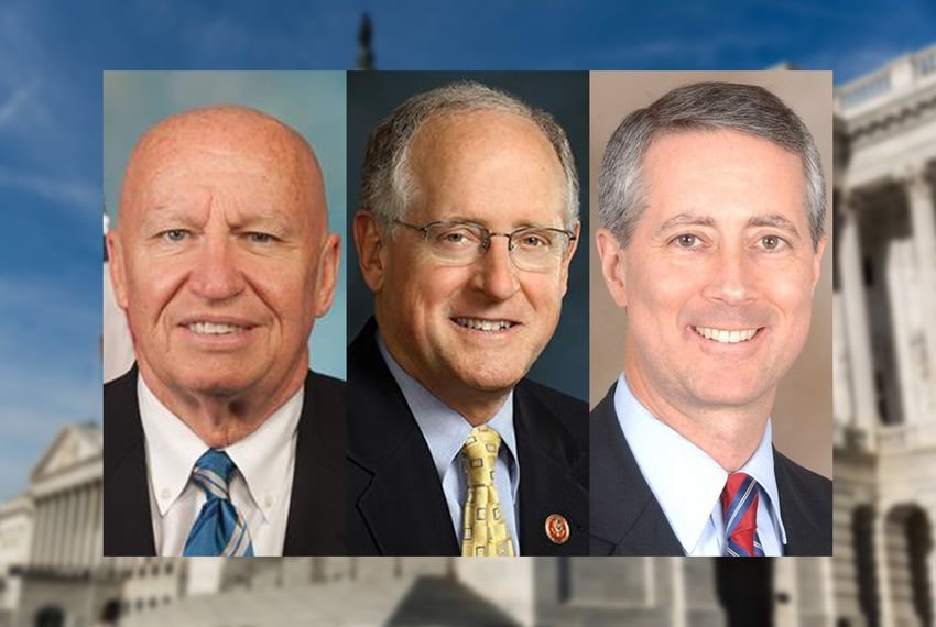 Left to right: U.S. Reps. Kevin Brady, R-The Woodlands, Mike Conaway, R-Midland, and Mac Thornberry, R-Clarendon.
