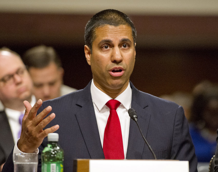 """Combating illegal robocalls is our top consumer priority at the FCC,"" Chairman Ajit Pai said in a statement. In this file photo, Pai is seen testifying before the U.S. Senate Committee on Commerce, Science, and Transportation on Capitol Hill in Washington, D.C. on July 19, 2017."