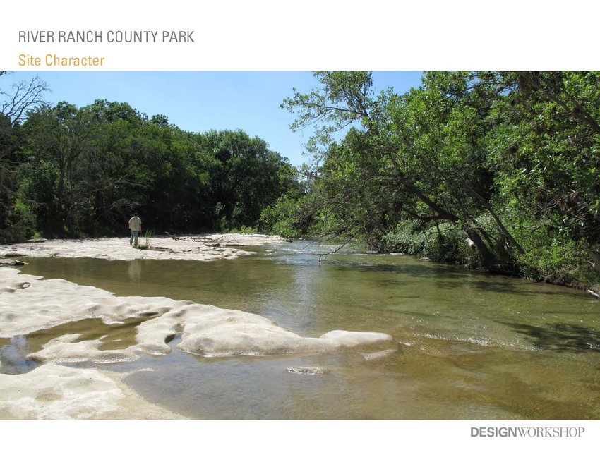 River Ranch County Park will eventually comprise 1,000 acres that will include hiking trails, meadownlands and camping sites just west of Liberty Hill.