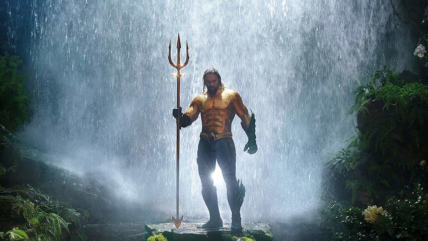 "Jason Momoa stars as ""Aquaman,"" in the latest big screen adaptation of a DC comic book character."