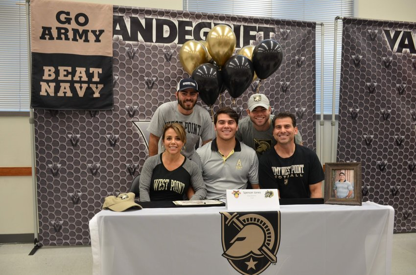 Vandegrift linebacker and District 13-6A Defensive MVP signed on to play football at Army during early signing day on Wednesday.
