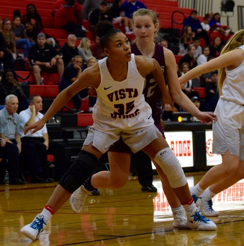 Vista Ridge senior Jasmyn Taylor tore her meniscus in both of her knees on two separate occasions and played about five games in the last two seasons with the Lady Rangers.