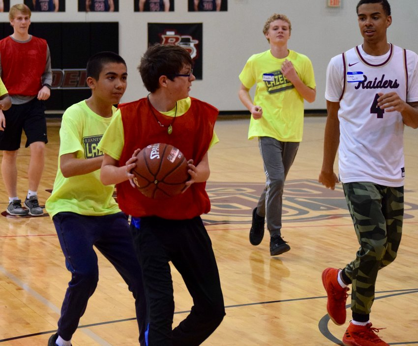 Rouse basketball hosted the 4th annual Leander Lazer Special Olympics basketball clinic Saturday morning.