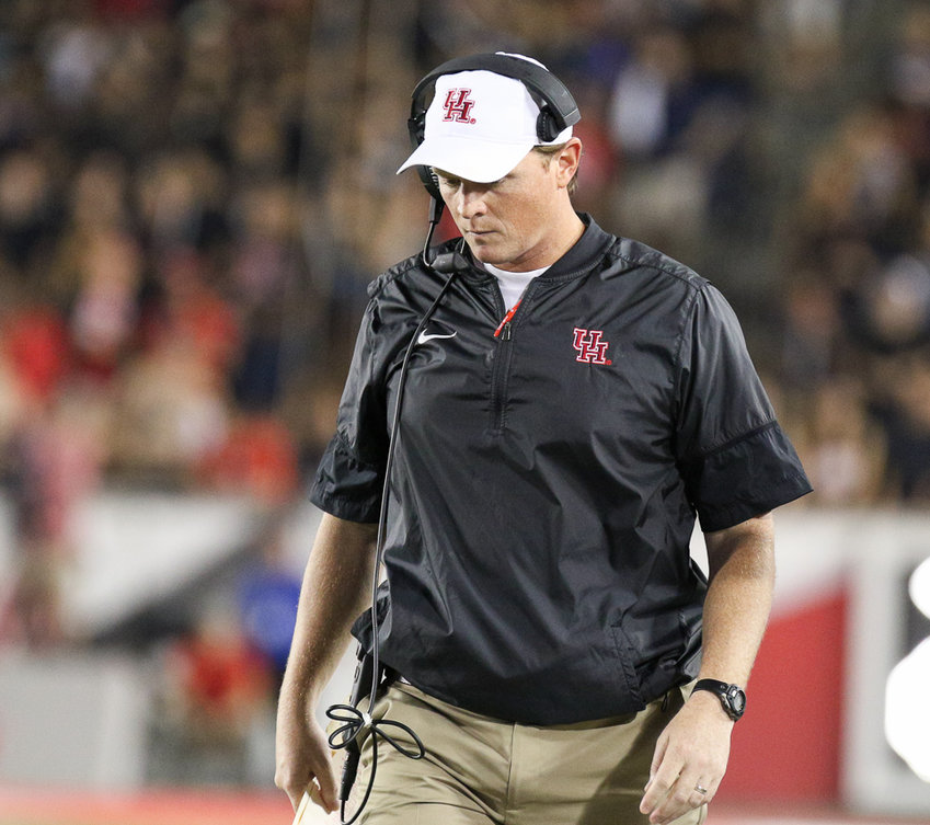 Major Applewhite was fired as head football coach at Houston on Sunday. He went 15-11 in three seasons in charge of the Cougars with three bowl losses.