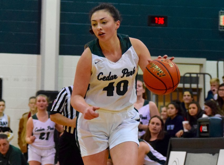Nicole Leff scored 14 points and the Cedar Park girls basketball team beat Pflugerville 55-44 on Friday night to clinch the District 17-5A title.