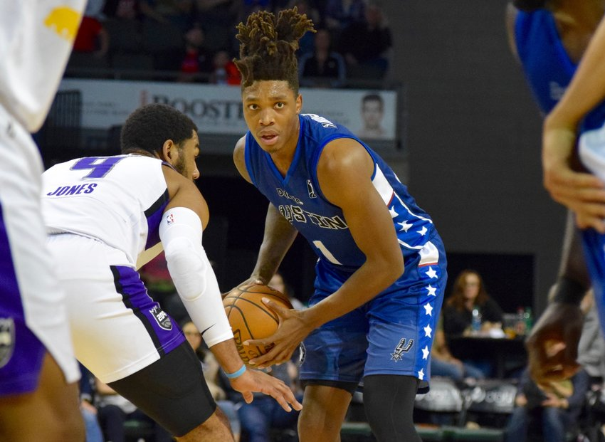Lonnie Walker IV scored 14 points, and the Austin Spurs beat the Stockton kings 128-104 on Saturday night.