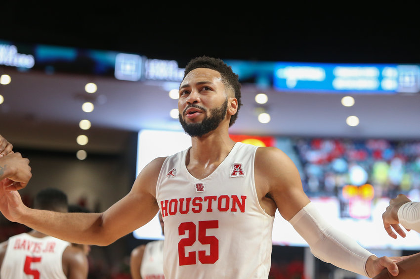 Houston Cougars guard Galen Robinson Jr. (25) during an NCAA men's basketball game between the University of Houston and the University of Oregon on Saturday, Dec. 1, 2018 in Houston, TX.