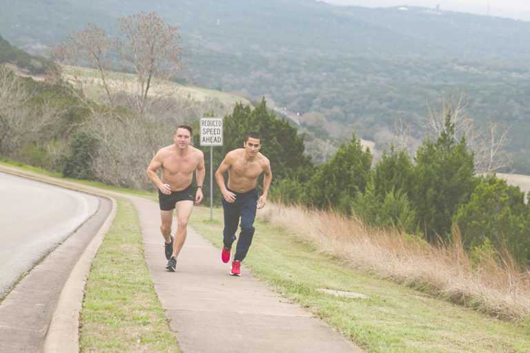 Four Points area residents Conner Erwin and Brent Werbeck are competing in a triathlon they created for charity called Fool's Race.
