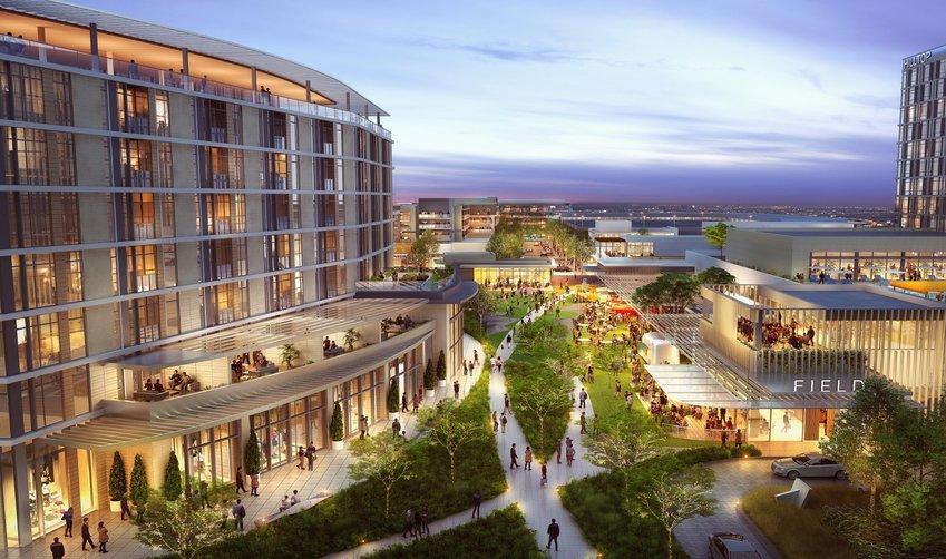 A rendering of the proposed Indigo Ridge development.