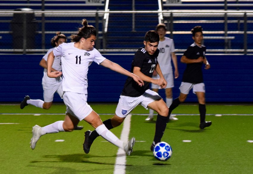 Jacob Pell scored the only goal of the game and Cedar Park shut out Georgetown 1-0 on Thursday night in the Timberwolves' first playoff win since 2013.
