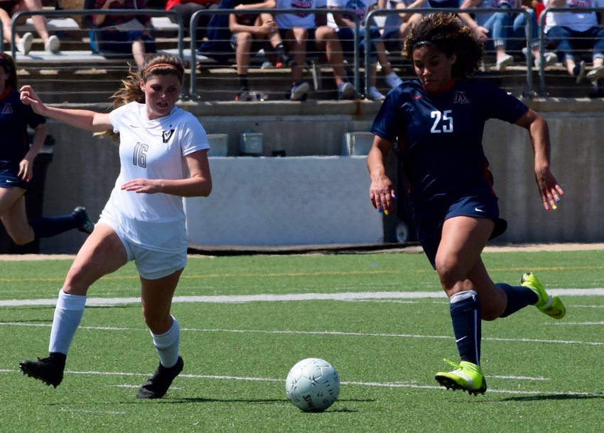 Olivia Elwood and Vandegrift lost to Allen 1-0 in the regional quarterfinals Friday afternoon at Kelly Reeves Athletic Complex.