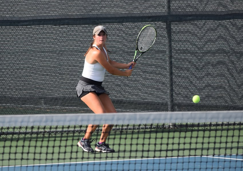 Gabby Cusano will compete in girls' doubles with partner Anisha Apte tournament at the UIL State Tennis Tournament on May 16-17 in College Station.