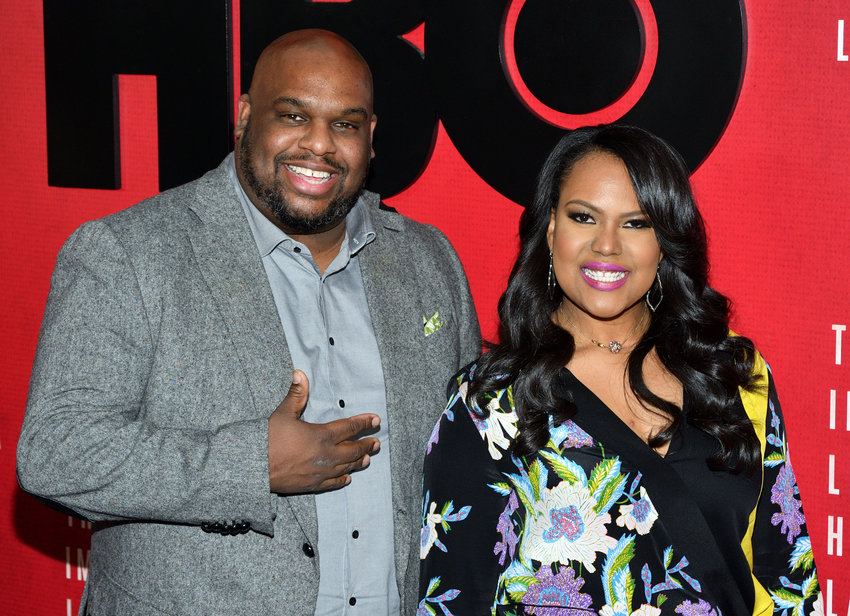 """L-R: Rev. John Gray and Aventer Gray attend the HBO Films presentation of """"The Immortal Life of Henrietta Lacks"""" at the SVA Theater in New York, NY on April 18, 2017."""