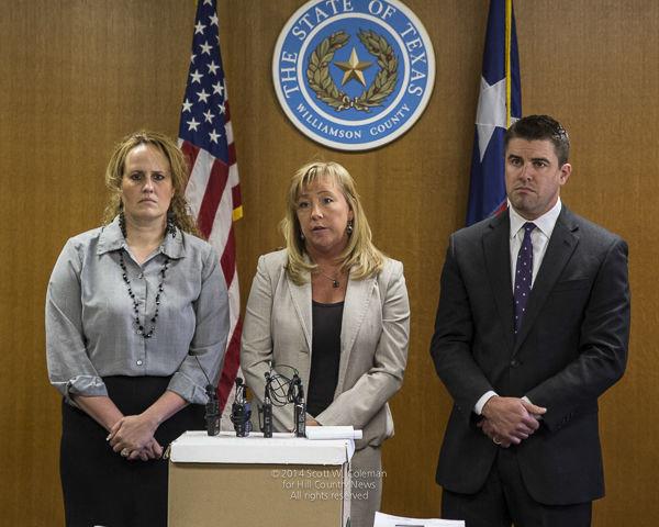 Former Williamson County District Attorney Jana Duty (center) was found dead in a Rockport condominium on Wednesday.