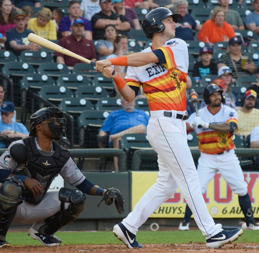 Express outfielder Kyle Tucker hit a 430-foot home run and Round Rock beat the New Orleans Baby Cakes 11-7 on Saturday night.