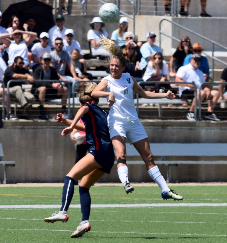 Vandegrift midfielder Stormy Meier was named the District 13-6A Midfield MVP. The Lady Vipers lost to Allen in the regional tournament.