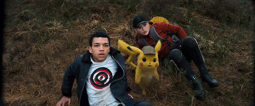 "Kathryn Newton and Justice Smith in ""Pokemon Detective Pikachu."""