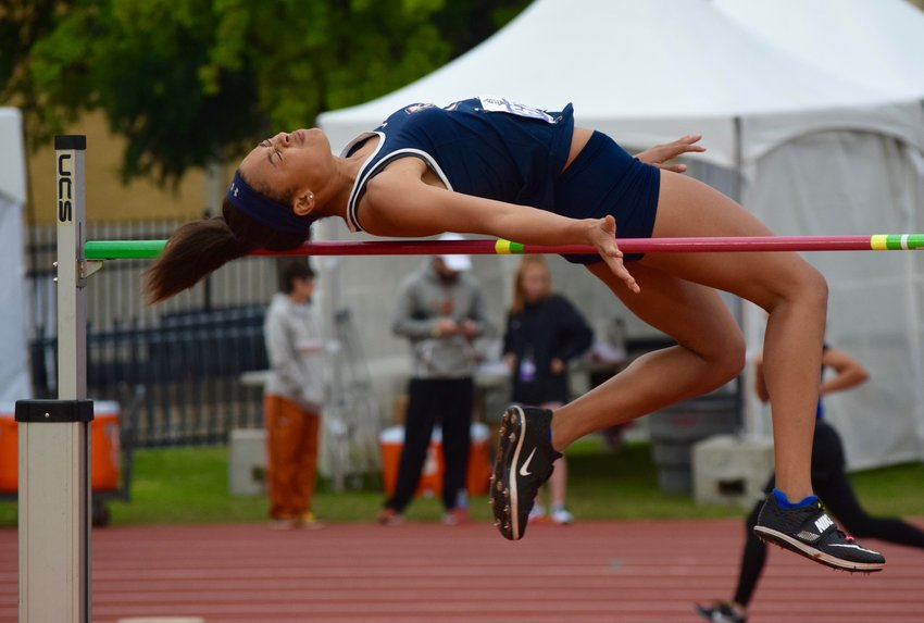 Glenn sophomore Chloe Coffee finished second in the 5A girls' high jump UIL State Track and Field Meet on Friday.