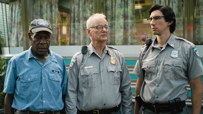 """Danny Glover, Bill Murray and Adam Driver in """"The Dead Don't Die."""""""