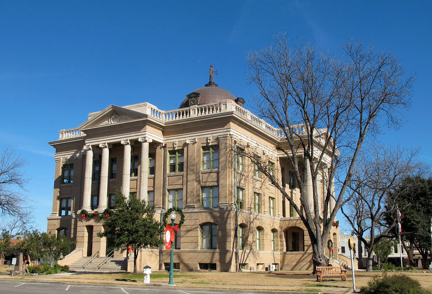 The Williamson County Courthouse in Georgetown, Texas.