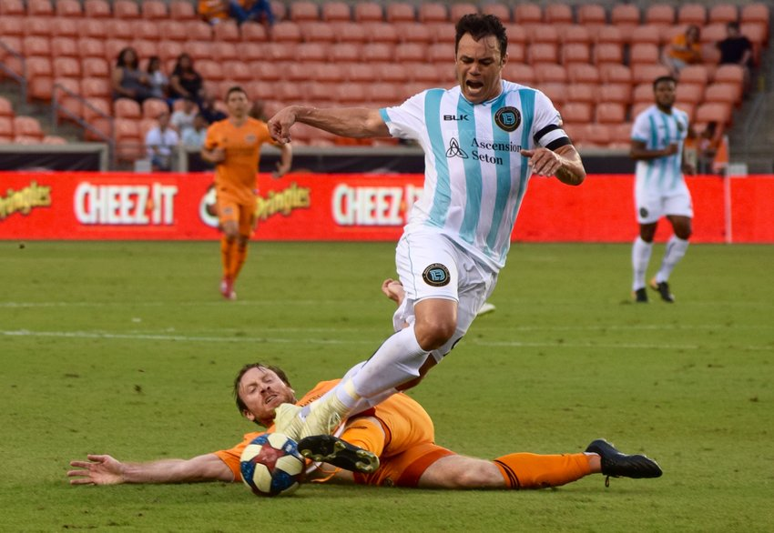 Kleber and Austin Bold FC lost to the Houston Dynamo 3-2 in the fourth round of the U.S. Open Cup Tuesday night at BBVA Stadium in Houston.