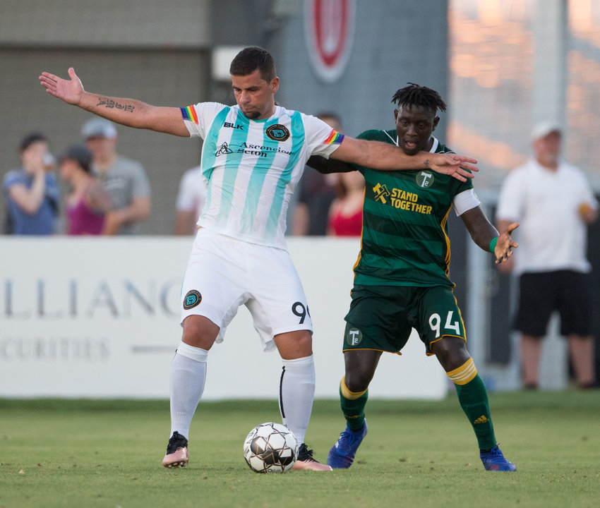 Austin Bold FC forward Andre Lima, left, scored a goal and the Bold beat Rio Grande Valley FC 1-0 on Saturday night to extend their winning streak to four games.
