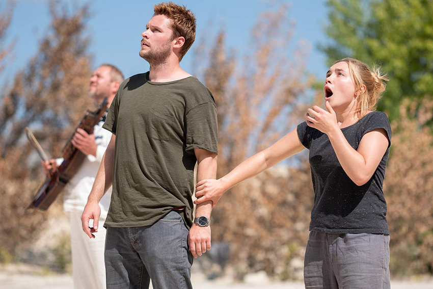 "Jack Reynor and Florence Pugh in the horror film ""Midsommar,"" in theaters now."