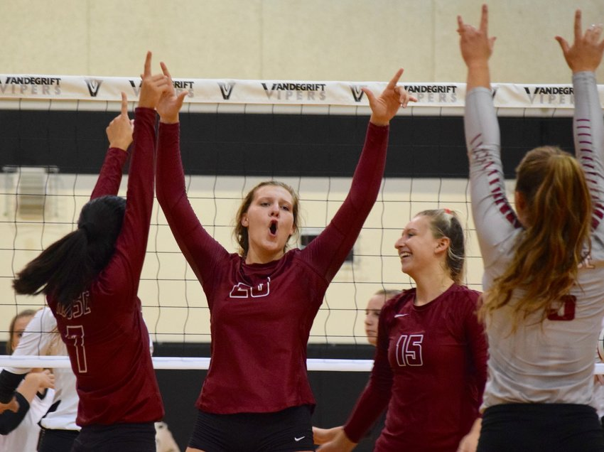 Madison Butler and Rouse beat Vandegrift 3-0 (25-21, 25-19, 25-10) in non-district play on Tuesday night.