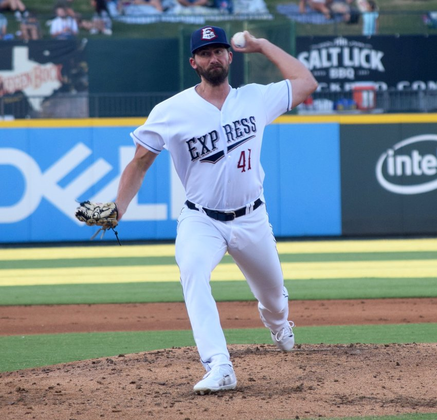 Round Rock pitcher Kent Emanuel didn't allow a run with six strikeouts over eight innings on Tuesday, helping the Express beat the San Antonio Missions 4-3.